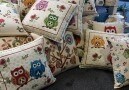 Pillows with owls