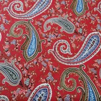 Decorative fabric red CASHMERE
