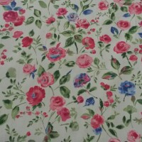 Flowered cotton fabric CHARLOTTE