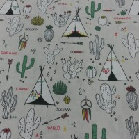 Cotton fabric INDIAN CAMP