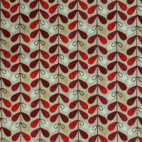 Cotton fabric SCANDY 4514/006 lin/rouge
