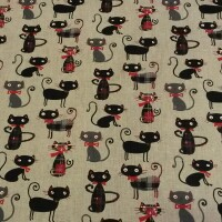 Decorative fabric CATS LORD 3