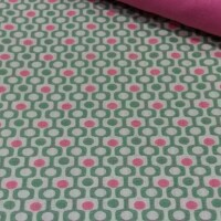 Decorative fabric PEIXO MENTHE/CORAL