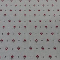 Cotton fabric VOLKS red