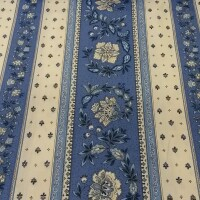 Cotton fabric VOLKS blue strips