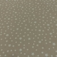 Cotton fabric STARS taupe