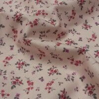 Decorative fabric FLOWERS LENNY pink