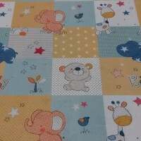 Cotton fabric BABY ZOO