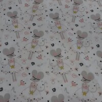 Cotton fabric MOUSE grey