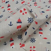 Decorative fabric  LIGHTHOUSES beige