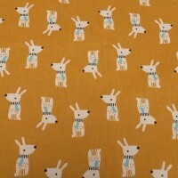 Cotton fabric HARE MELVIL
