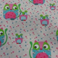 Children cotton fabric CAT and MOUSE