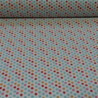 Cotton fabric Colored dots I