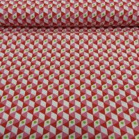 Cotton fabric NOHO red