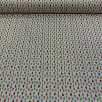 Cotton fabric PLUMI red