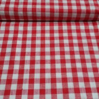 Decorative fabric GINGHAM red 1x1 cm