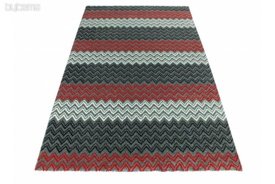 Modern Carpet ZIG ZAG Red