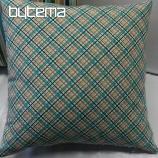 Pillow-case EUGEN turquoise-brown 44x44