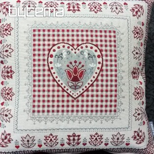 Tapestry pillow HEART lace