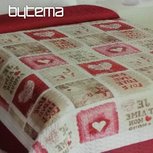 Single bed cover LOVE