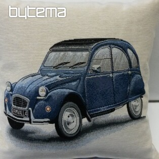 Tapestry pillow-case Citroën 2CV blue