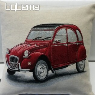 Tapestry pillow-case Citroën 2CV red