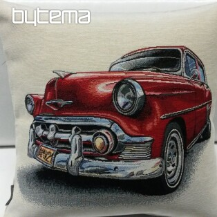 Tapestry pillow-case AMERICAN CAR