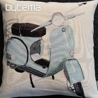 Tapestry pillow-case BLUE SCOOTER VESPA