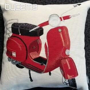 Tapestry pillow-case RED SCOOTER VESPA