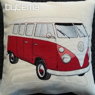 Tapestry pillow-case RED BUS