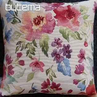 Tapestry pillow-case PASTEL FLOWERS
