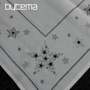 Christmas embroidered tablecloth and shawls CHRISTMAS STARS I
