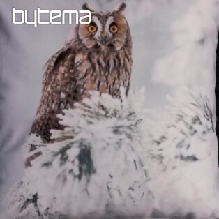 Decorative pillow-case OWL IN WINTER 40x40