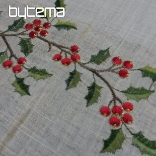 Christmas embroidered tablecloth and shawls HOLLY