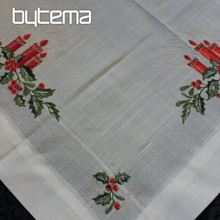 Christmas embroidered tablecloth and shawls CANDLE