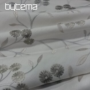 Embroidered decorative fabric LAURA 6911