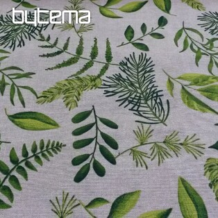 Decorative fabric PLANTS GREEN