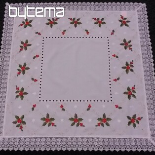 Christmas embroidered tablecloth HOLLY 2