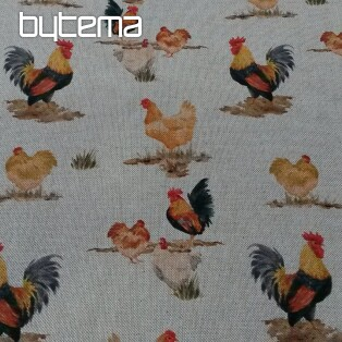 Decorative fabric HENS digital print