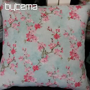 Decorative pillow-case MIDORI Japanese sakura