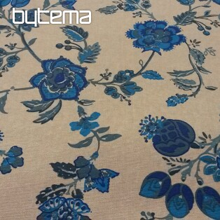 Decorative fabric INDI blue flower