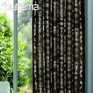 Decorative curtain EMANUEL beige-grey 135x245 - blackout