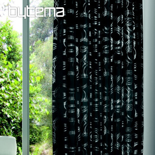 Decorative curtain FINJA dark grey 135x245 - blackout