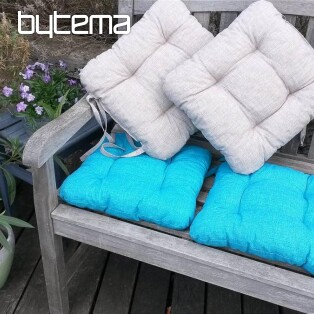 Chair cushion EDGAR turquoise 601