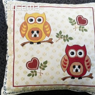 Decorative pillow two owls I