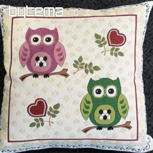 Decorative pillow two owls II