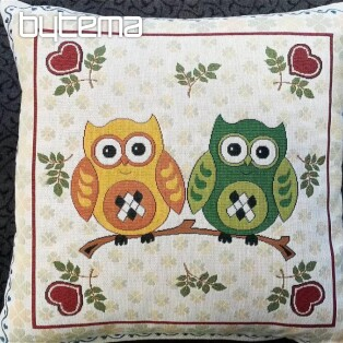 Decorative pillow two owls A