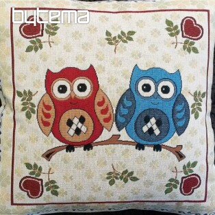 Decorative pillow two owls B