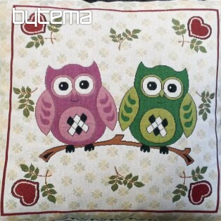 Decorative pillow two owls C