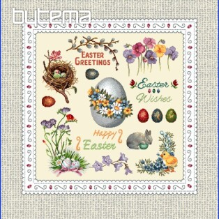 Tapestry pillow-case HAPPY EASTER